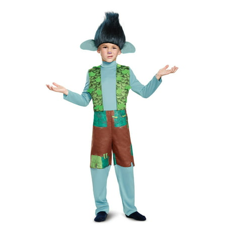 Trolls - Branch Deluxe Child Costume with Wig](Trollz Costume)