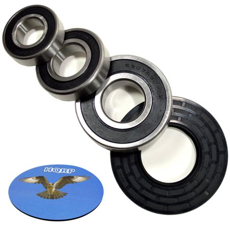 HQRP Bearing and Seal Kit for Whirlpool WFW9400SW01 WFW9400SW02 WFW9400SW03 WFW9400SW04 WFW9400SZ00 WFW9400SZ01 Front Load Washer Tub + HQRP