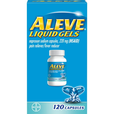 Aleve Liquid Gels w Naproxen Sodium, Pain Reliever/Fever Reducer, 220 mg, 120