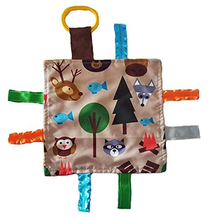 Lovey Chew Blanket Crinkle Toy Tag Square Sensory By Baby