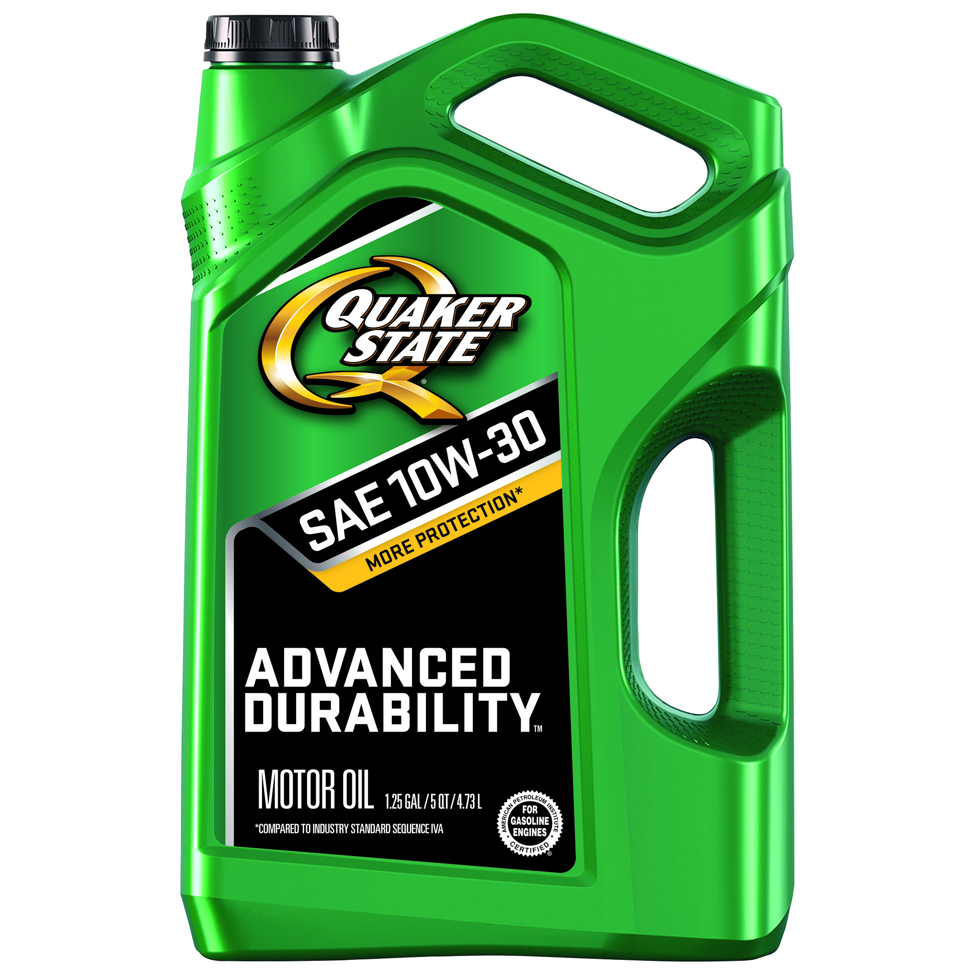 Quaker State Conventional 10W-30 Advanced Durability Motor Oil, 5 Quart