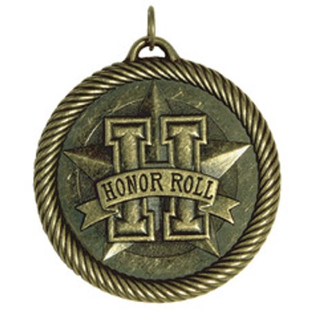 Hammond & Stephens Multi-Level Dovetail/Honor Roll Value Medal, 2 Inches, Solid Die Cast, Bronze