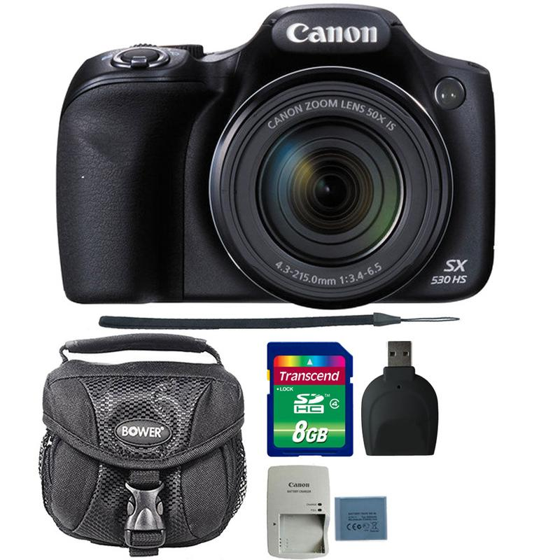 Canon PowerShot SX530 HS 16MP Digital Camera with 8GB Ultimate Accessory Kit
