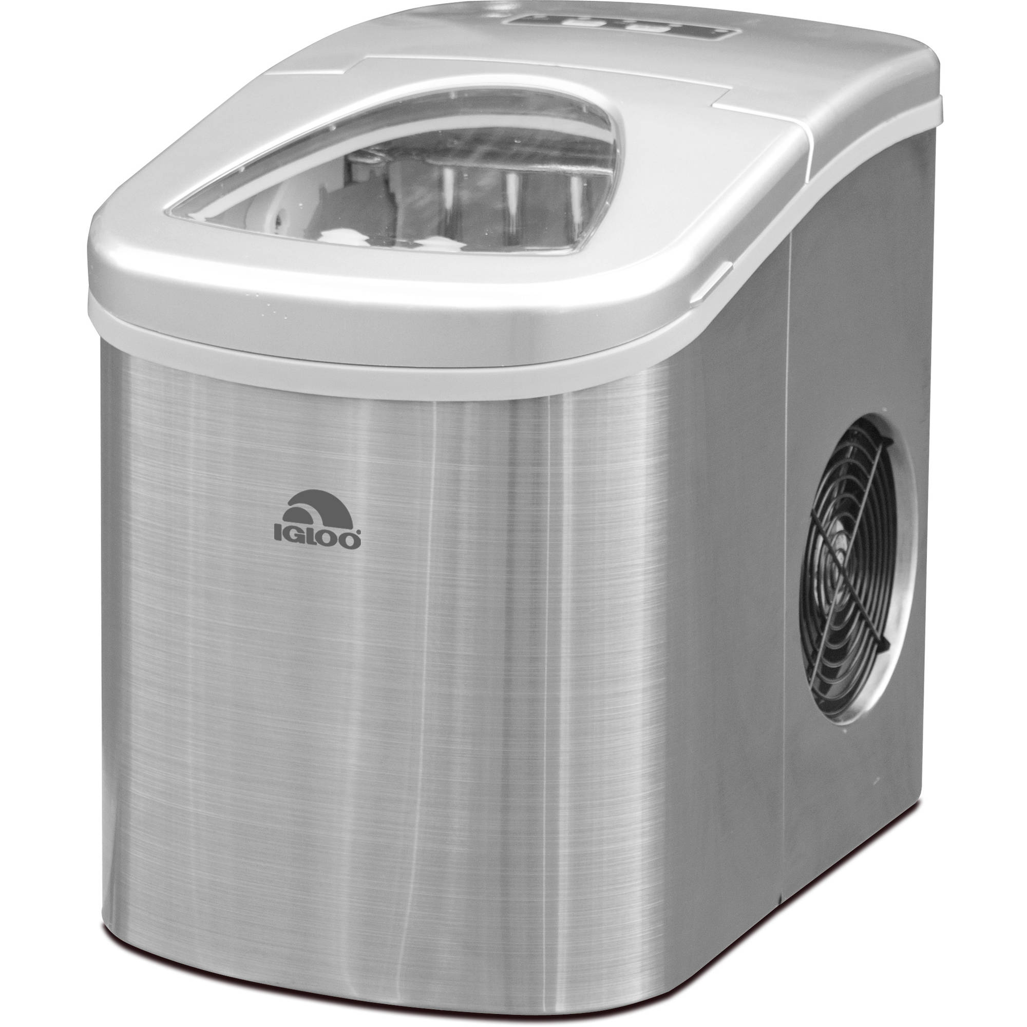 Igloo Compact Ice Maker - ICE117 Stainless Steel (Certified Refurbished)