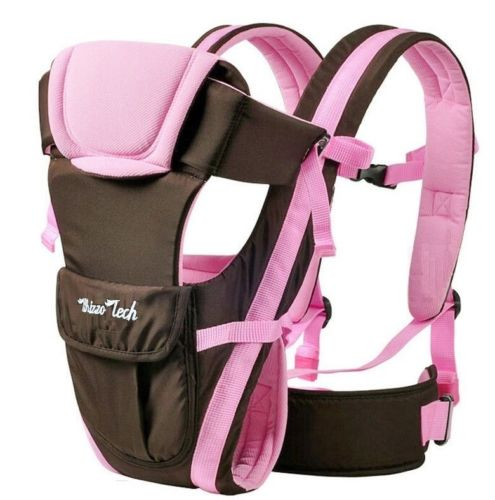 Adjustable Newborn Infant Baby Carrier Comfortable Baby Wrap Rider Sling Baby Carriers Backpack-PINK by Whizzo Tech