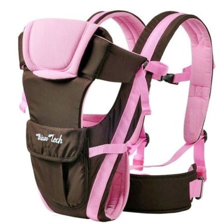 Adjustable Newborn Infant Baby Carrier Comfortable Baby Wrap Rider Sling Baby Carriers Backpack-PINK