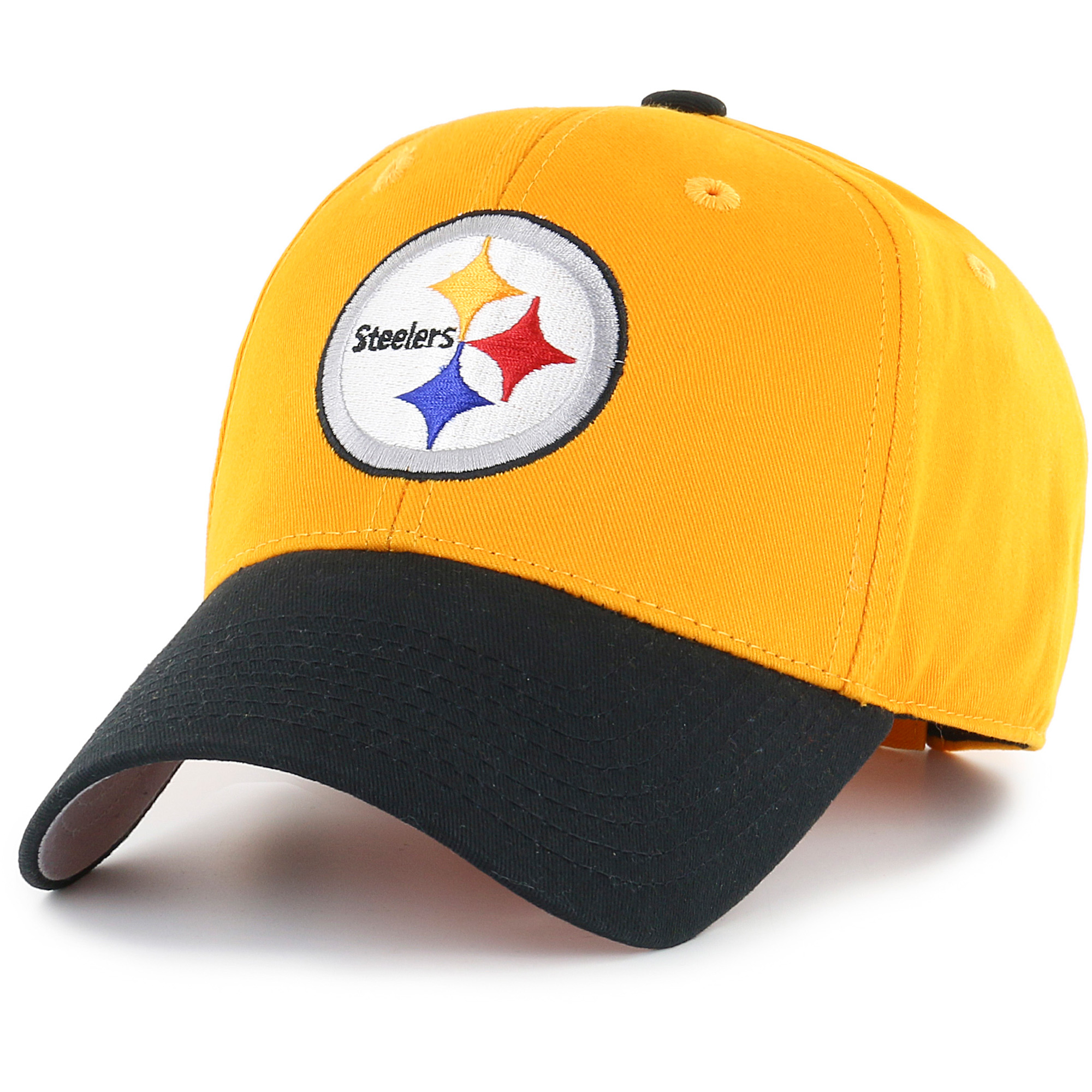 Youth Fan Favorite Gold/Black Pittsburgh Steelers Two-Tone Adjustable Hat - OSFA