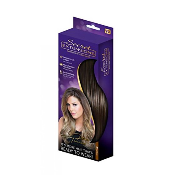 Secret Extensions Hair Extensions By Daisy Fuentes Dark Brown