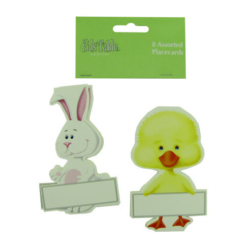 Bulk Buys 1279595 8-Pack Bunny And Chick Place Cards -  Case of 24