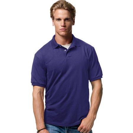 Hanes Cotton-Blend Men`s Jersey Polo, 054X, XL, Gold