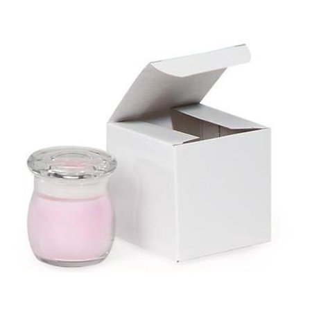 """1 Unit White Gloss Gift Boxes 3x3x3"""" 100% Recycled ~ 1 Piece Box Unit pack 100"""