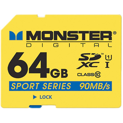 Monster Digital SDFSP-0032-A SDHC Full Size SD Memory Card Sport 90 Series