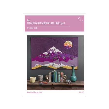 Violet Craft Elevated Abstractions Mt Hood QltPtrn](Hooded Cloak Pattern)