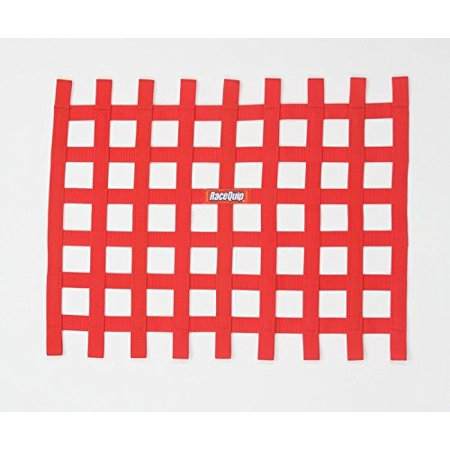 RIBBON STYLE RACE CAR WINDOW NET; RED 18 H X 24 W