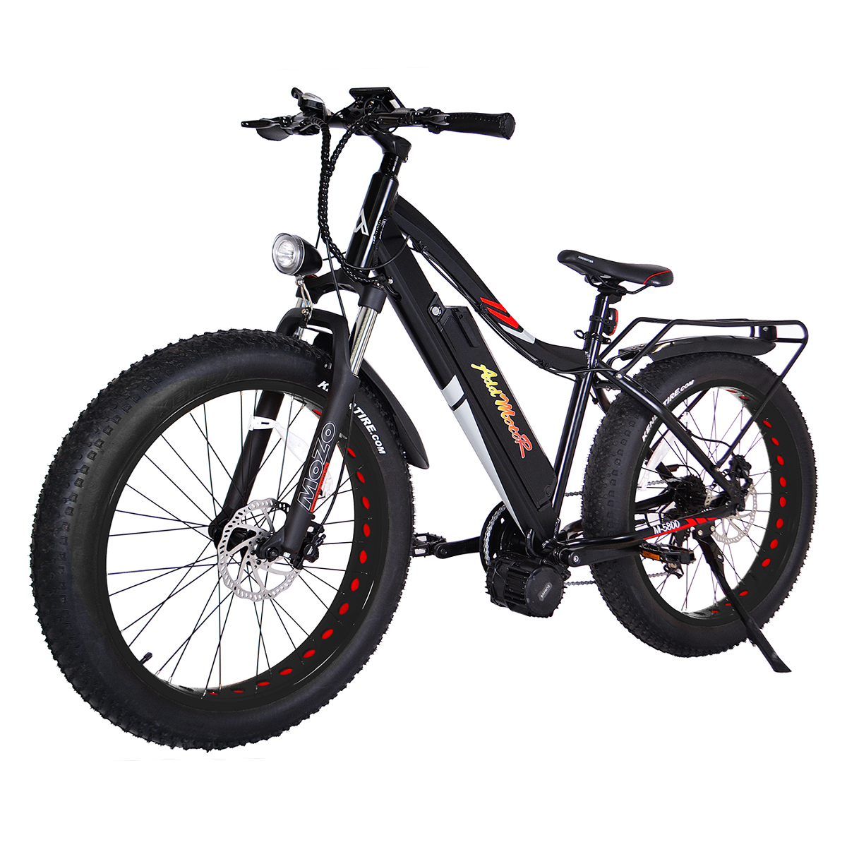 "Addmotor MOTAN 1000W Electric Bike Snow Beach Electric Bicycles Fat Tire Ebike 26"" 17.5AH 48V Middle Motor E-bike M5800"