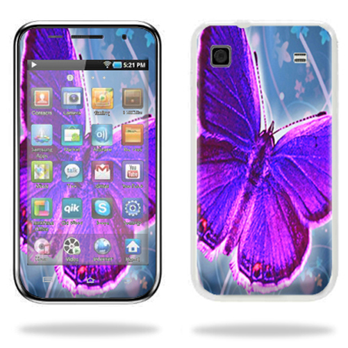 Mightyskins Protective Vinyl Skin Decal Cover for Samsung Galaxy Player 4.0 MP3 Player wrap sticker skins Violet Butterfly