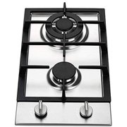 Ramblewood GC2-37N (Natural Gas) high efficiency 2 burner gas cooktop, ETL Safety Certified.