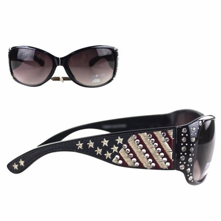 Montana West Ladies Sunglasses American Pride US Flag Stars and Stripes - Halloween Sunglasses Wholesale