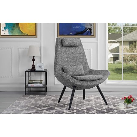Modern Contemporary Linen Fabric Living Room Accent Chair (Light Grey)