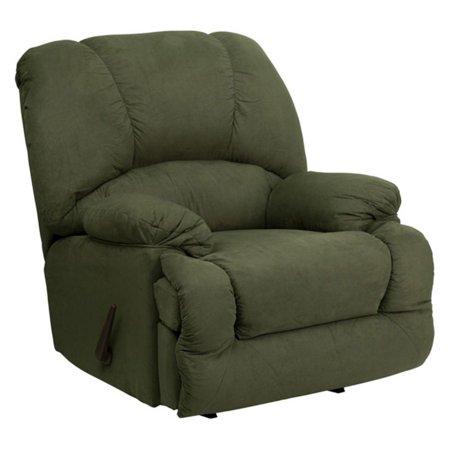 Flash Furniture Contemporary Glacier Olive Microfiber Chaise Rocker Recliner
