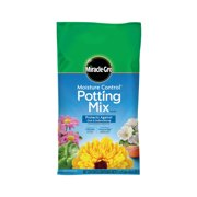 Miracle-Gro Moisture Control Potting Mix, 1 cu. ft., Feeds up to 6 Months