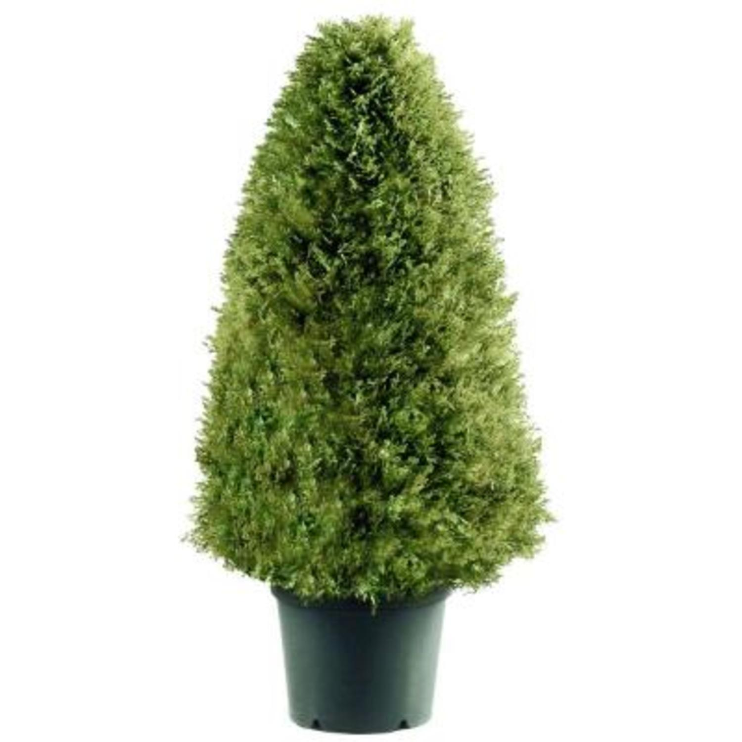 "48"" Tall Artificial Green Upright Juniper Shrub with Round Pot"
