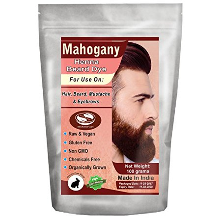 1 Pack of Mahogany Henna Beard Dye For Men 100 Grams - The Henna Guys - Beard Dye Walmart