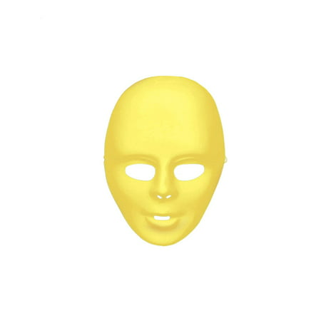 Yellow Full Face Mask Halloween Costume Accessory