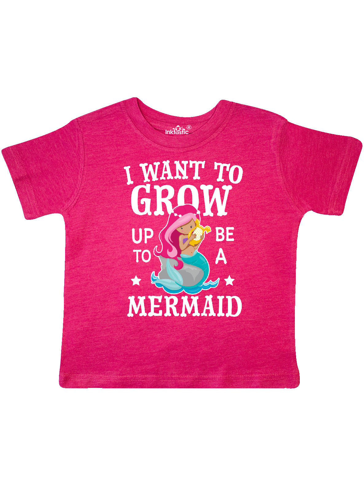 inktastic I Want to Grow Up to Be a Mermaid Toddler Long Sleeve T-Shirt