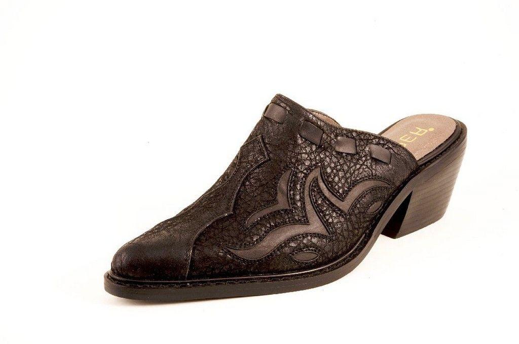 Roper Western Shoes Womens Underlay Mule Black 09-021-1555-0303 BL