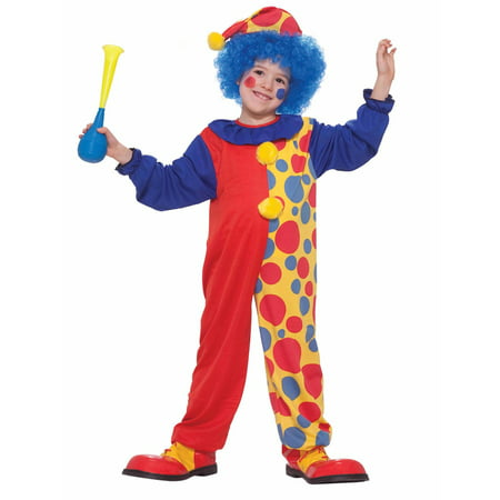 Classic Clown - Children's Costume - Crazy Clown Costume