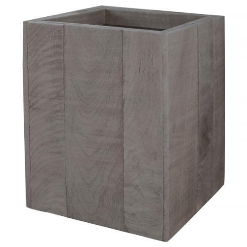 Lamont Home Wyatt Collection Wood Wastebasket Grey