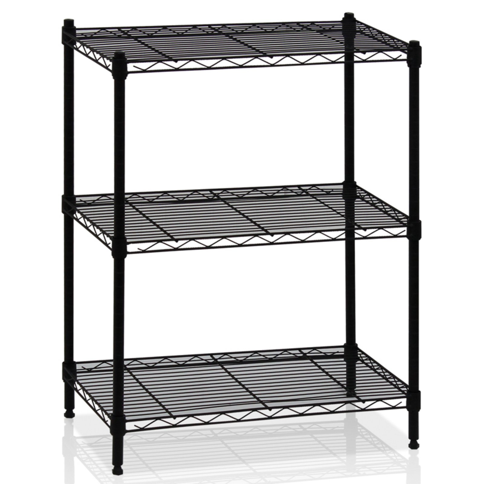Furinno Wayar 3-Tier Heavy-Duty Wire Shelving, Multiple Colors