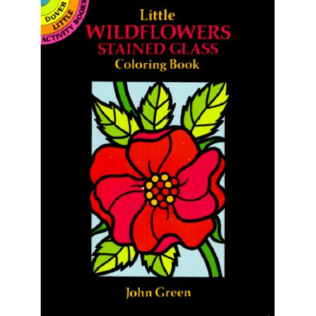 Little Wildflowers Stained Glass Coloring - Wildflowers Coloring Book