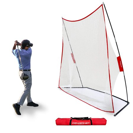 PowerNet 10x7 Golf Practice Training Net New and Improved Design for 2019 for Working on Drives, Chips with Woods or Irons Large Hitting Surface Indoor or Outdoor