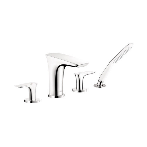 Hansgrohe Puravida Two Handle Deck Mount Roman Tub Faucet with Hand Shower