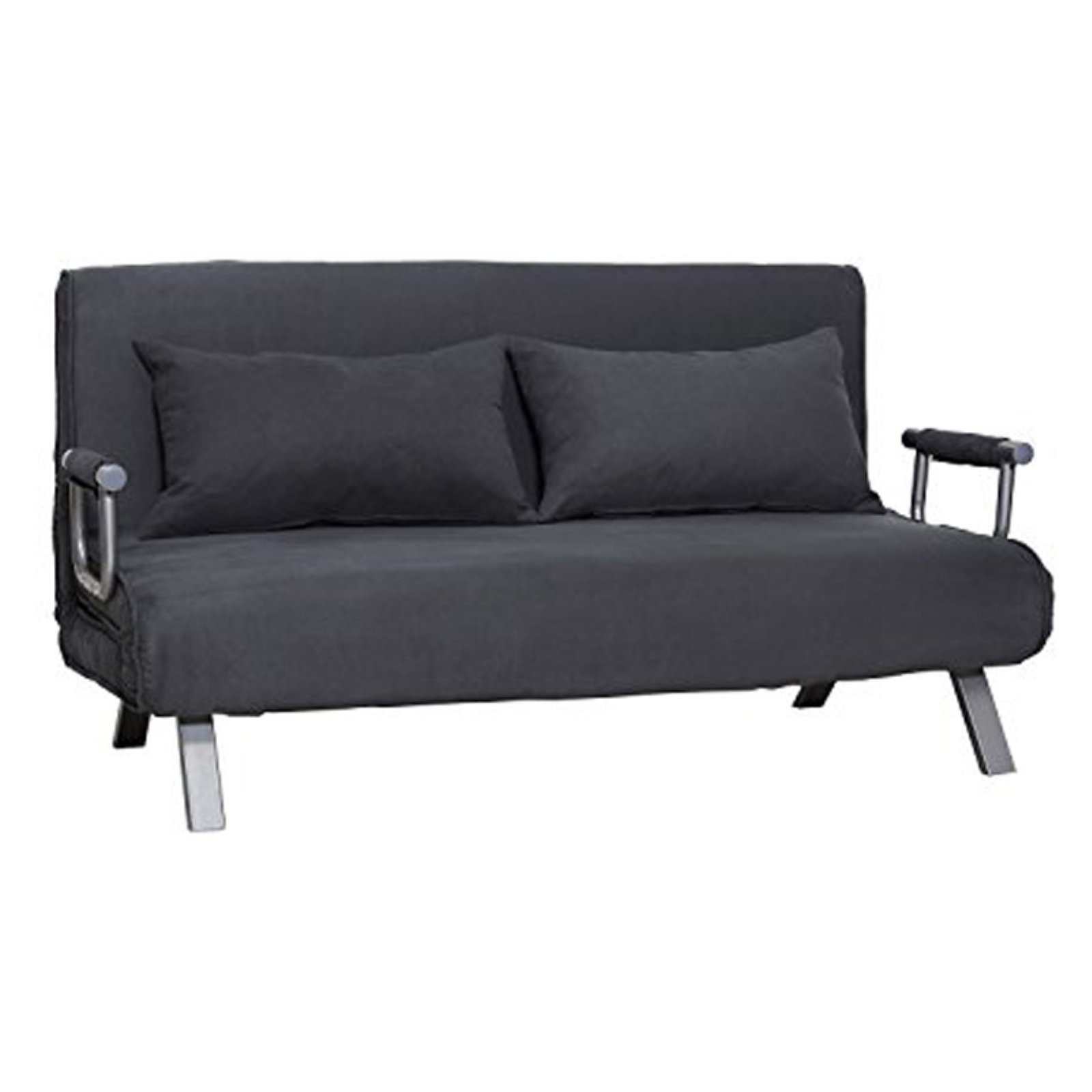 HomCom Suede Convertible Sleeper Sofa