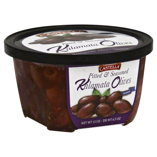 Castella Kalamata Olives Pitted Seasoned Greek, 6.5 oz