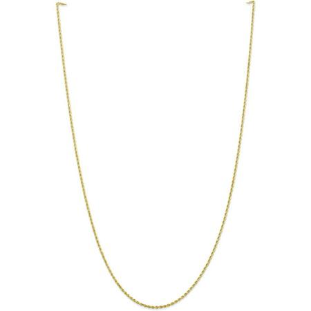 - 10k 1.5mm Handmade Diamond cut Rope Chain