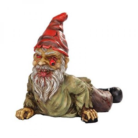 7 Inch Resin Scary Crawling Zombie Garden Gnome Décor Figurine (Scary Gnome)