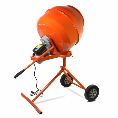 5 Cuft Portable Electric Concrete Cement Mixer Barrow Machine 1 2HP Mixing Mortar