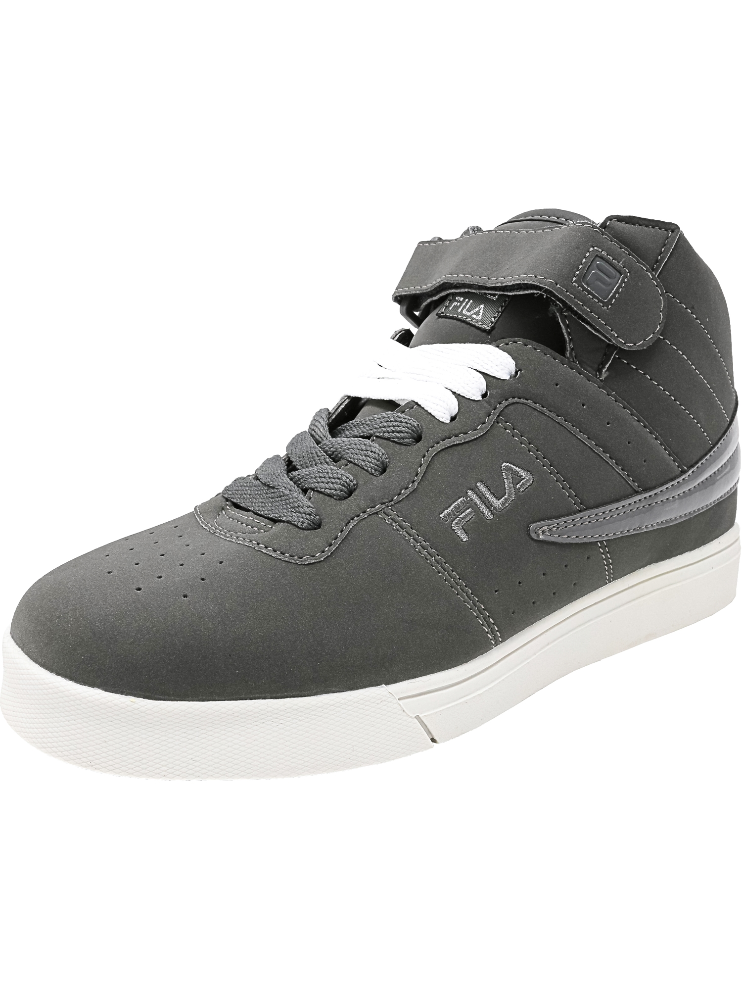 Fila Men's Vulc 13 Pewter / Metallic Silver White Ankle-High Leather Fashion Sneaker - 8M