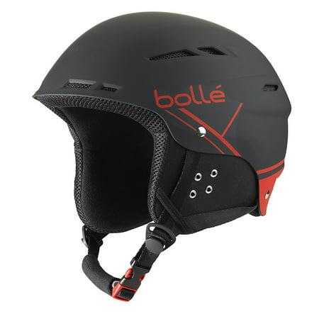 Bolle Winter B-Fun Soft Black & Red 54-58cm 31211 Ski Helmet Click-to-Fit