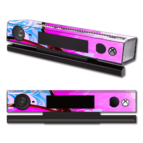 Mightyskins Protective Vinyl Skin Decal Cover for Microsoft Xbox One Kinect wrap sticker skins Pink Butterfly