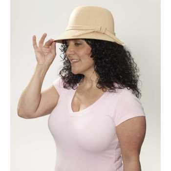 ROAR 20S BEIGE FLAPPER HAT (Flappers Hats)