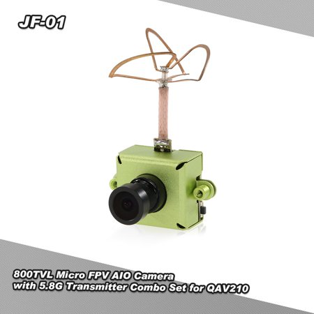 JF-01 800TVL CMOS Micro FPV AIO Camera with 5.8G 25mW 40CH Video Transmitter Combo Set for QAV250 210 180 RC Quadcopter Drone