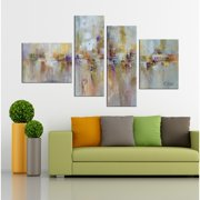 The Lighting Store Hand-painted 'Abstract529' 4-piece Gallery-wrapped Canvas Art Set