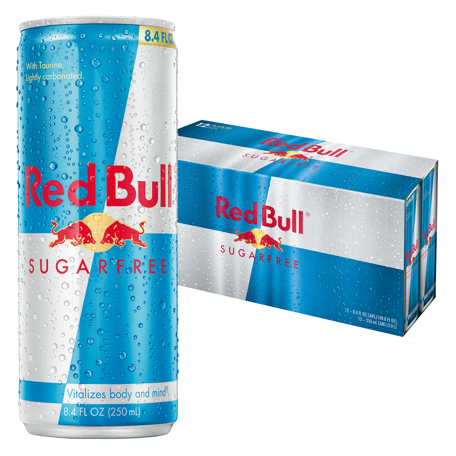 Red Bull Sugarfree, Energy Drink, 8.4 Fl Oz Cans, 12 Pack