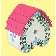 Dollhouse Birdhouse W/Flowers