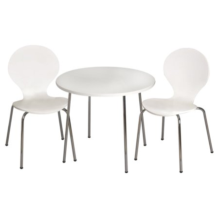 - Gift Mark Modern Childrens Table and 2 Chair Set with Chrome Legs